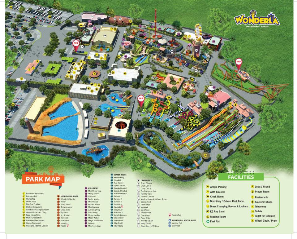 Wonderla Bangalore Park Map t08tdg 1
