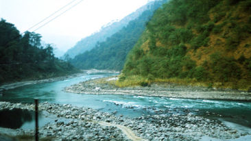 Teesta River near Summit Barsana Resort and Spa Kalimpong Hotels in Kalimpong