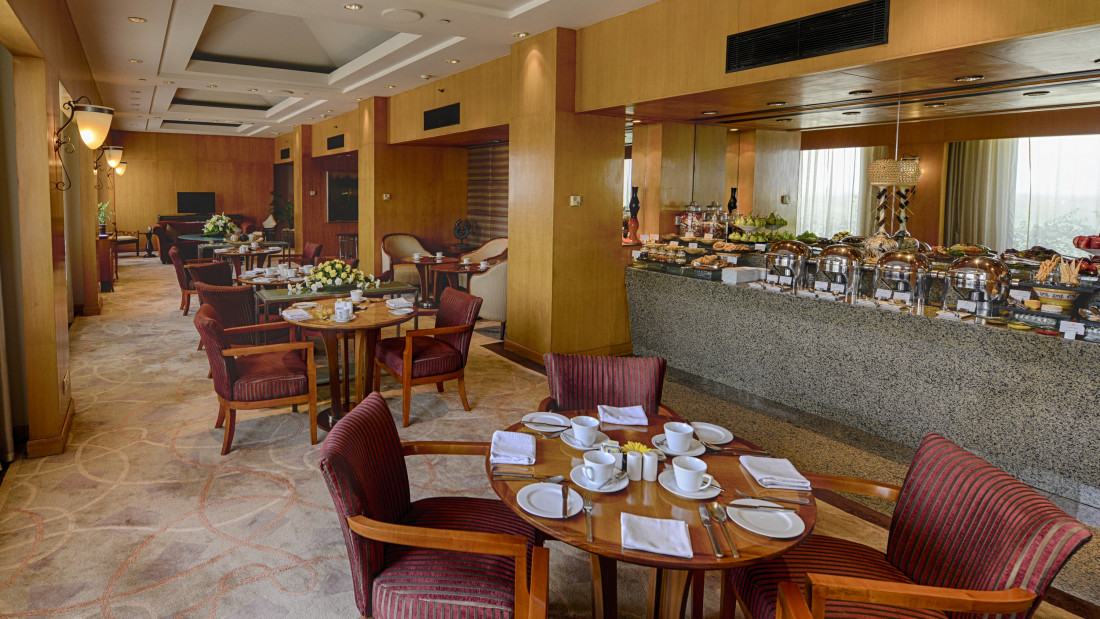 The Grand New Delhi New Delhi Grand Club Loungue at The Grand New Delhi Hotel on Nelson Mandela Road