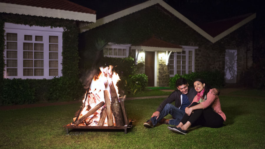 alt-text Bonfire activities at The Carlton Best 5 Star Hotel in Kodaikanal,  Hotels near Kodaikanal lake