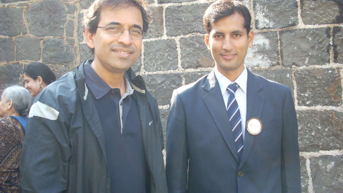 Harsha Bhogle at Fort Jadhavgadh Heritage Resort Hotel Pune