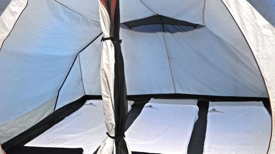 Heaven's Ledge - Campsite, Yercaud Yercaud inside the tent 2 heavens ledge campsite yercaud