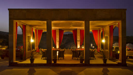 Bijolai Lake and Terrace Restaurant- Bijolai Palace Hotel, Outdoor Restaurants in Jodhpur 2