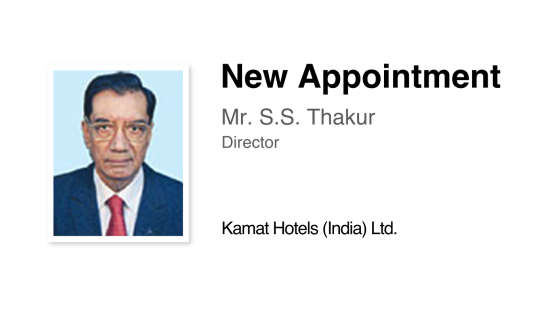 KHIL Mumbai New Appointment Company News Kamat Hotels India Ltd