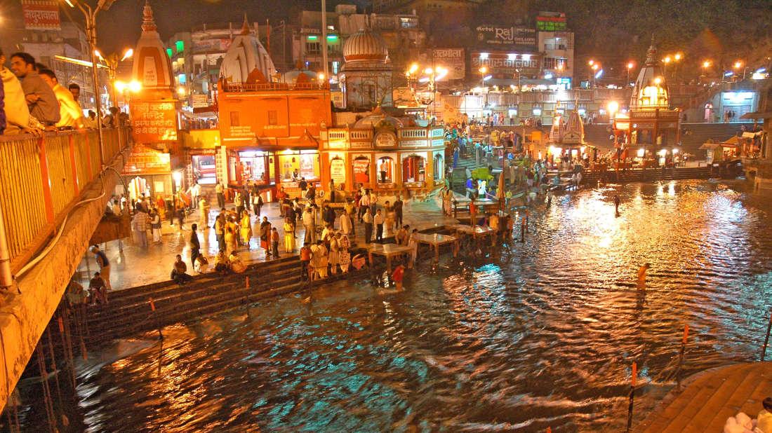 Leisure Hotels  Haridwar-HariKiPauri-Bathing Ghats ClockTowerInLights-2
