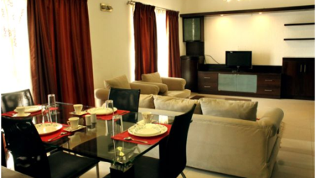Sherwood Suites  Dining Living Room 1 Sherwood Suites in Marathahalli