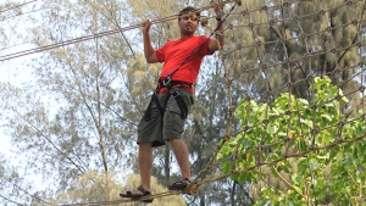 parallel rope walk, Lotus Beach Resort Murud Beach-Dapoli Ratnagiri