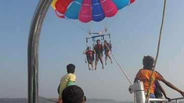 parasailing, Lotus Beach Resort, Murud Beach-Dapoli, Ratnagiri