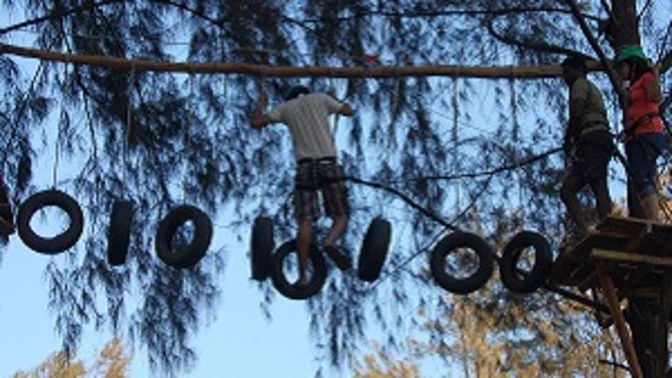 tyre obstacle, Lotus Beach Resort, Murud Beach-Dapoli, Ratnagiri