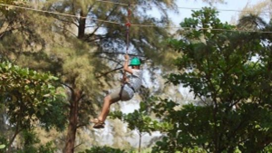 zip-line, Lotus Beach Resort, Murud Beach-Dapoli, Ratnagiri