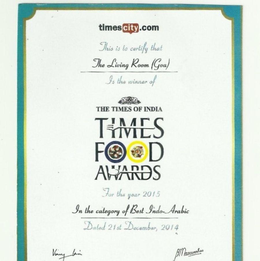 Times Food Award 2015