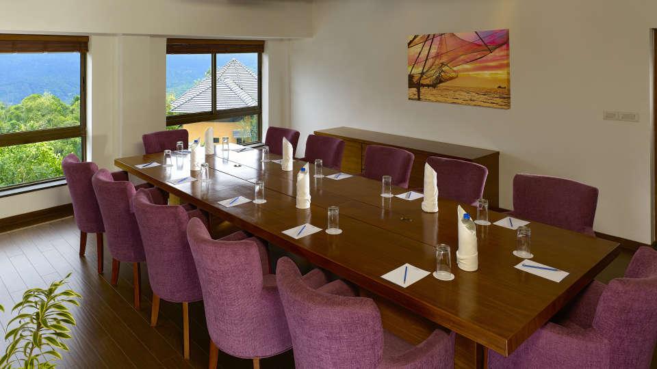 Samithi Board Room at Poetree Sarovar Portico Thekkady, best kerala hotels