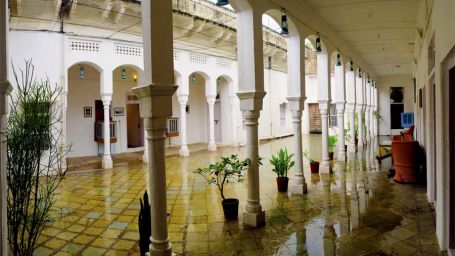 The Piramal Haveli - 20th C, Shekhavati Shekhavati The back courtyard The Piramal Haveli Shekhavati Hotel Rajasthan