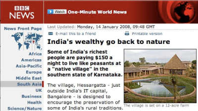 BBC News features Our Native Village - Best resort near Bangalore 110