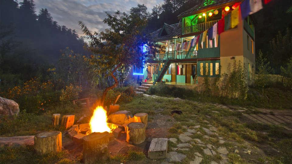 Bonfire Trip to kasol Parvati River Cottage
