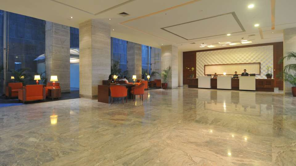 Lobby and Reception of The Orchid Hotel Pune  5 Star Hotel in Balewadi Pune