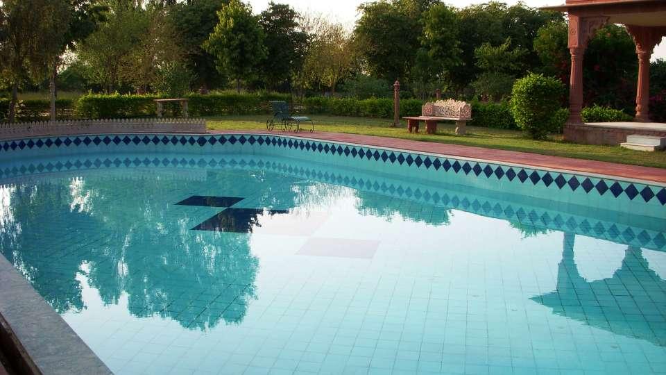 Swimming Pool at Umaid Lake Palace Hotel Kalakho Dausa Rajasthan