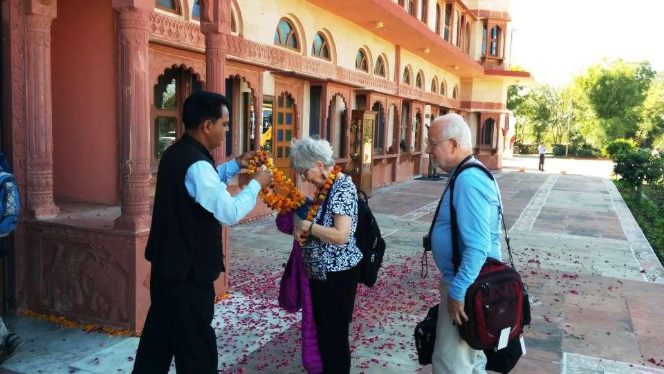 Welcoming the Guste at Umaid Lake Palace Hotel Kalakho Dausa Rajasthan