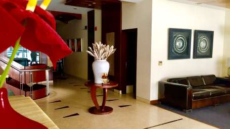 Reception, Hotel Aura Paharganj New Delhi, hotels in paharganj 1