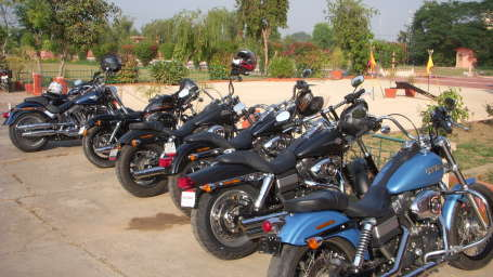 Harley Davidson Team at Umaid Lake Palace Hotel Kalakho Dausa Rajasthan