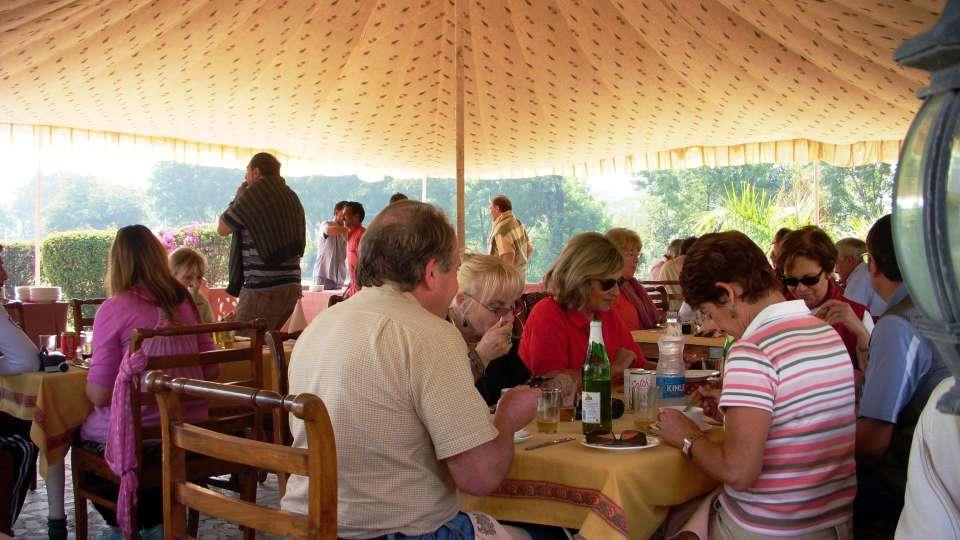 Dining at Umaid Lake Palace Hotel Kalakho Dausa Rajasthan