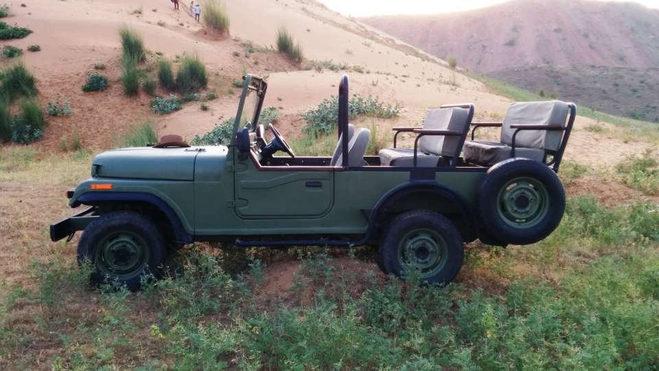 Jeep Safari to Sanddunes at Umaid Lake Palace Hotel Kalakho Dausa Rajasthan