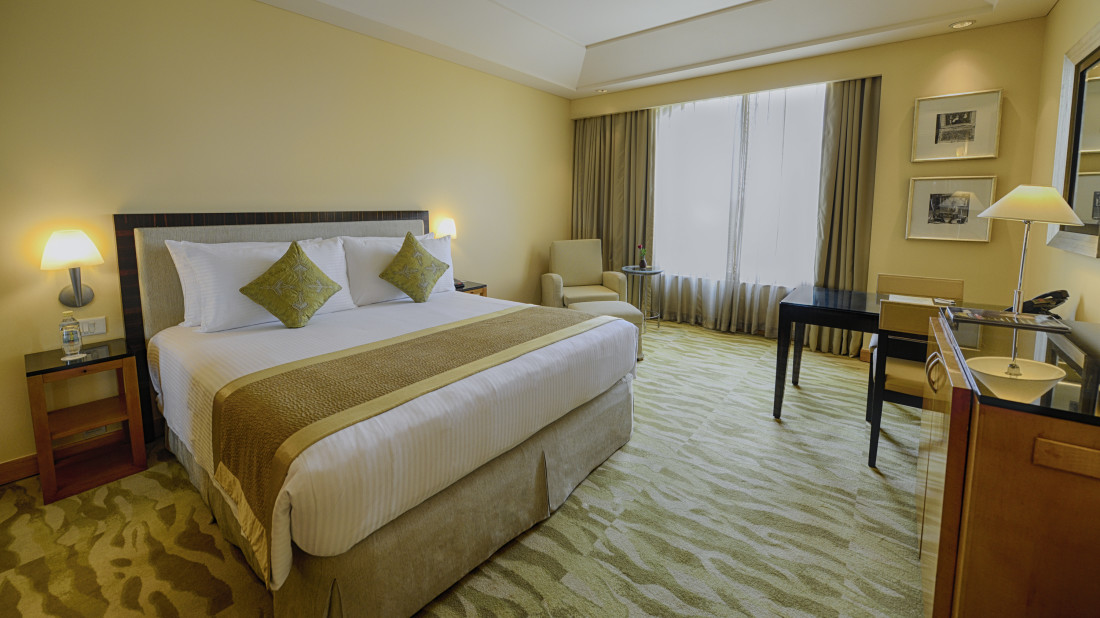 The Grand New Delhi New Delhi Grand Club Room At The Grand New Delhi Hotel  On