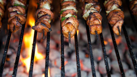 The Sattva – Nature Retreat, Chikmagalur Chikmagalur kebab-on-skewers