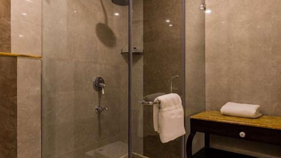 Shower Area at Sairafort Sarovar Portico Jaisalmer, Hotel Palace in Jaisalmer