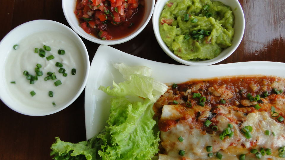 Chicken enchiladas Mexican