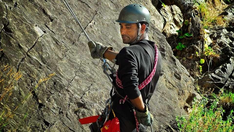 Rock Climbing at Aloha On the Ganges Rishikesh Resort and Hotel Rishikesh