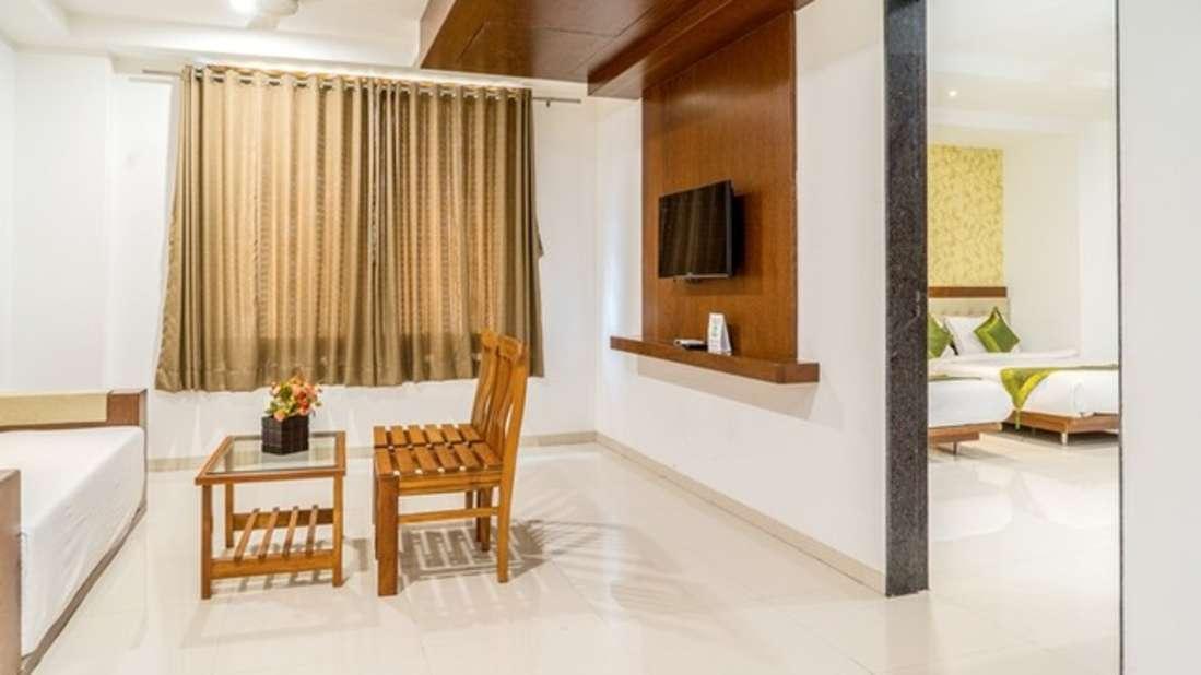 Living Room, at Pushpak Resort, Shirdi