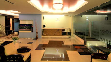 Raj Boutique Hotels, Bangalore  lobby hotel raj elegance hrbr layout bangalore