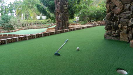 Fantasy Golf Resort Bangalore Golf Green Water Cascade at Fantasy Golf Resort Bangalore