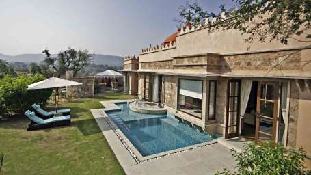 Luxury Pool Spa Villa at tree of life resort and spa, jaipur 22