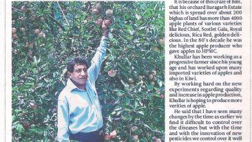 Ramgarh Heritage Villa Manali Newspaper Article