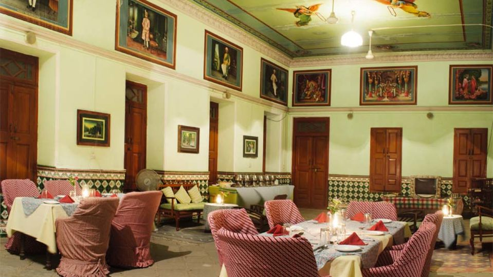 Restaurant in Rajasthan, The Piramal Haveli, Shekhawati Restaurant 2