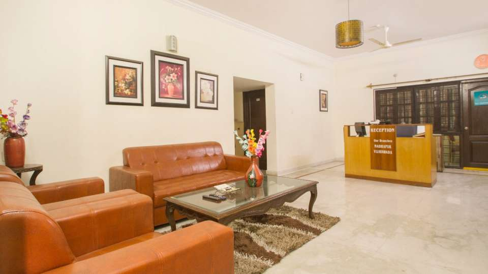Living area at Hotel NirmalVilla Cherry Service Apartment - Begumpet Hyderabad 8