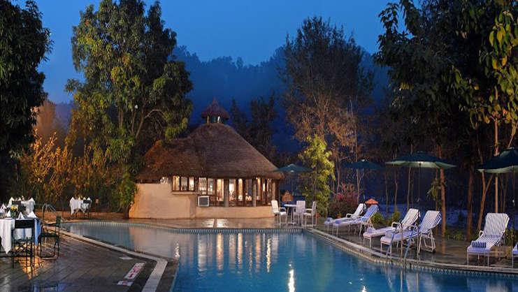 PoolSide of The River View Retreat - Corbett Resort Corbett