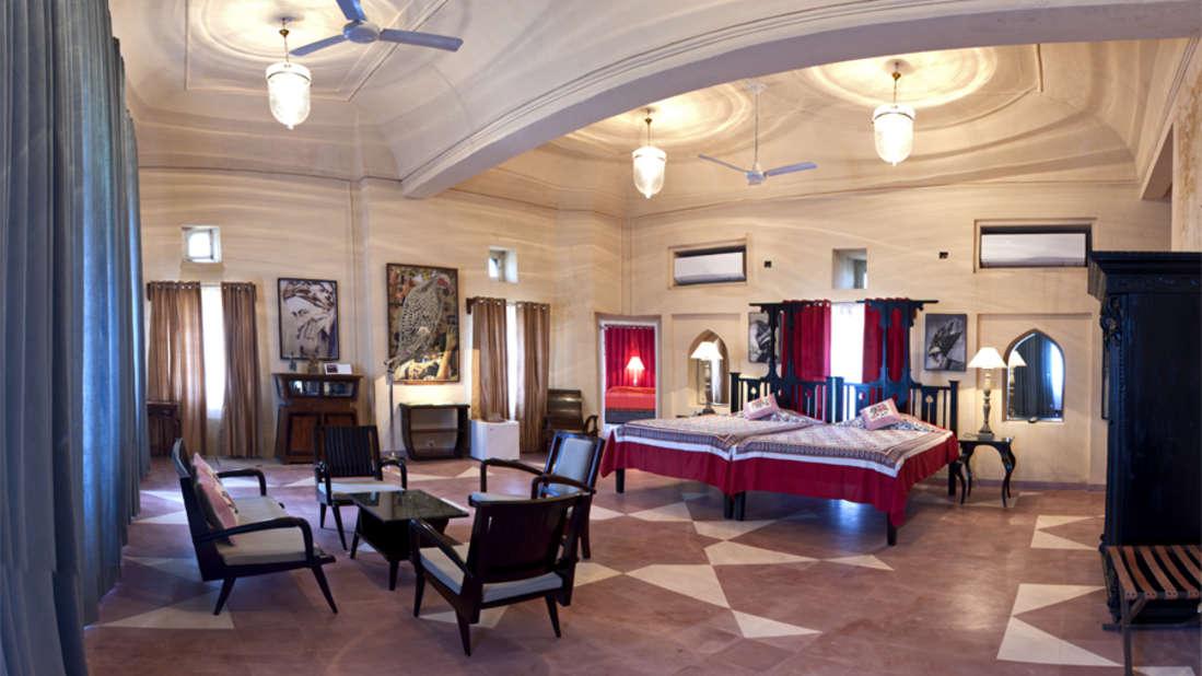 The Anju Mahal_Tijara Fort Palace_ Hotel Rooms in Rajasthan_Rooms Near Jaipur