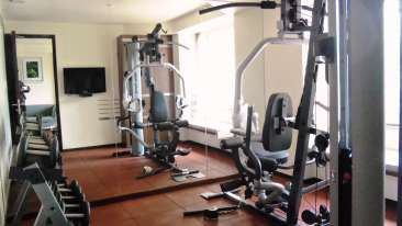 Gym facility at Marasa Sarovar Portio Rajkot Business Hotel in Rajkot, Near Rajkot airport