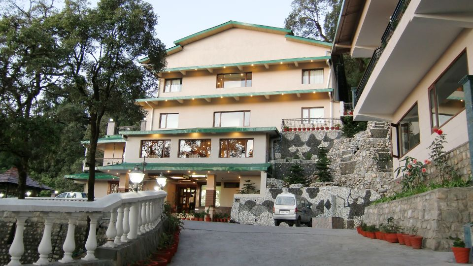 Entrance to our hotel in Mussoorie, Hotel Madhuban Sarovar Portico, Mussoorie