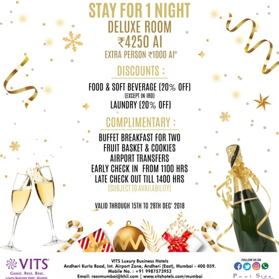 VITS MUMBAI- Member s Special End Year Offer