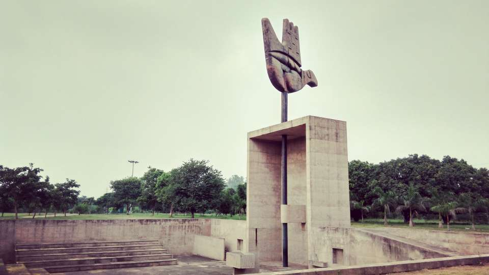 Open hand monument in Capitol Complex, Hometel Chandigarh, places to visit in chandigarh