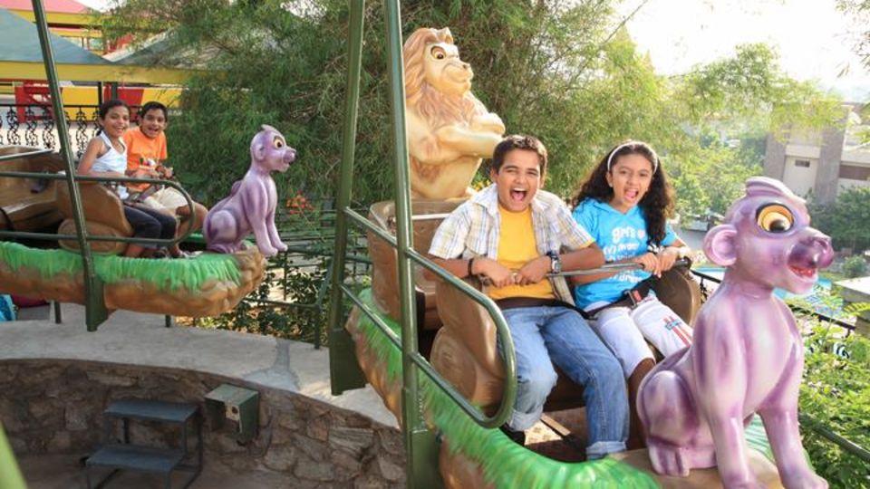 Kids Rides - Lion Swing at  Wonderla Amusement Park Bangalore