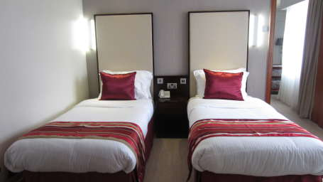 The Zehneria Portico Nairobi twin room 2