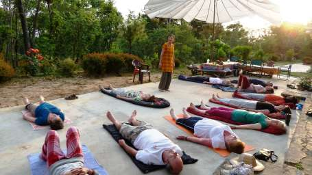 Yoga and Meditation at Umaid Lake Palace Hotel Kalakho Dausa Rajasthan