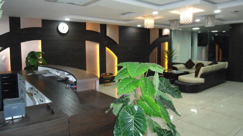 Lobby at hotel dream land in haridwar  haridwar hotels