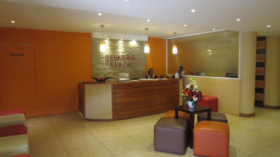 Reception at The Zehneria Portico Nairobi Best Hotels in Nairrobi