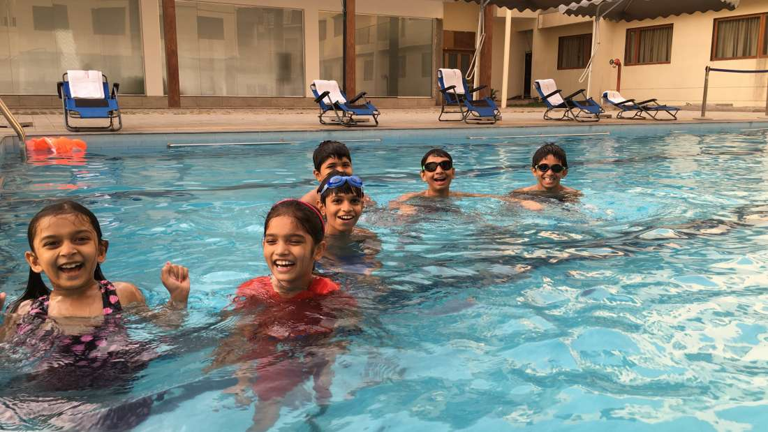 Swimming Pool at  Pushpak Resort, Shirdi